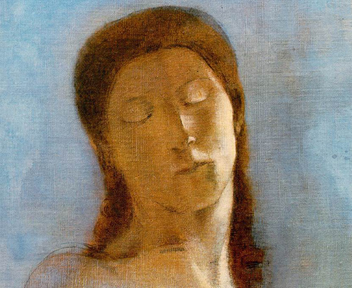 Odillon Redon Closed eyes