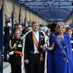Il nuovo re dei Paesi Bassi, Willem-Alexander e la regina Maxima il giorno dell'investitura