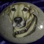 Il ritratto di Edgardo su pietra